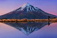 Take a hike (Dylan Toh) Tags: newzealand mountain reflection night landscape photography star waterfall astro alpine dee aotearoa taranaki newplymouth everlook egmontnationalpark dawsonsfalls goblinforest pouakaihut pouakaitarn