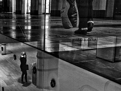 Parallel worlds (Hasse Linden) Tags: street stockholm streetphotography centralstation fujix100s