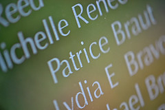 Patrice (MTSOfan) Tags: memorial patrice michelle lydia september11 names gardenofreflection