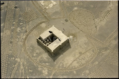 Qasr Kharaneh (APAAME) Tags: jadis2812001 kharanehcastle kharraneh kharranhcastle megaj3556 qasrkharaneh scannedfromnegative الحرانه الخرانه قصرالحرانه قصرالخرانه aerialarchaeology aerialphotography middleeast airphoto archaeology ancienthistory