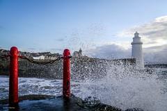 Guard Rail Missing (Silver Machine) Tags: sea lighthouse landscape lumix waves aberdeenshire guardrail railings macduff breaker lumixg dounechurch lumixg5