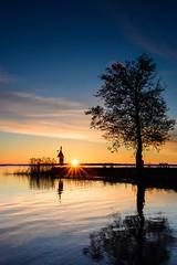 Sunrise Lake Roxen (jarnasen) Tags: longexposure sky sun lake color tree water clouds sunrise reflections dawn tripod scandinavia sunrays sonnenaufgang risingsun stergtland roxen nd1000 leefilters d7100 bigstopper tokina1228mmf4 ndgrad09gh