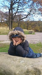 Liam takes time out at Lyme Park