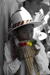 Bolivia, La Paz (Steve Viard) Tags: red music verde green yellow america children rojo south bolivia amarillo musica enfant nio lapaz sul sud bolivie amrique
