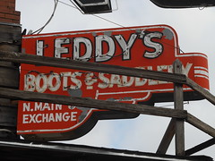 Leddy's (the justified sinner) Tags: old usa sign us dallas md texas minolta boots 14 panasonic 50 f