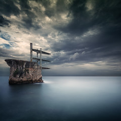 Diving Board (Eric Rousset) Tags: sea storm france canon landscape photography europe cloudy ctedazur canonef1740mmf4lusm divingboard 2014 frenchriviera alpesmaritimes plongeoir provencealpesctedazur singhray canoneos5dmarkii ericrousset galenrowellsinghray3stopgndfilter