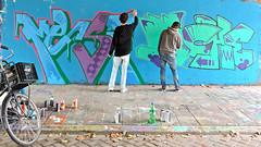Den Haag Graffiti : MENSA & MOCHE (Akbar Sim) Tags: holland netherlands graffiti nederland denhaag mensa thehague moche binckhorst agga akbarsimonse akbarsim