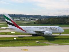 A6-EEJ - Airbus A380-861 Emirates (Hoddle747) Tags: emirates a380 ek zrich zrh