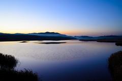 The inlet where smoke drifts (kurumaebi) Tags: sunset sea nature landscape nikon yamaguchi mysky   d7000