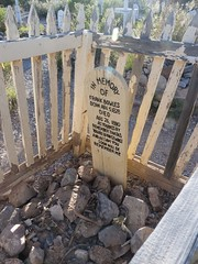 P1090719B Boot Hill, Tombstone, AZ (clay53012) Tags: arizona cactus grave mine crystals stones critter headstone tombstone jewels miner epitaph gemstones boothill queenmine boothillvista nationalhistorical