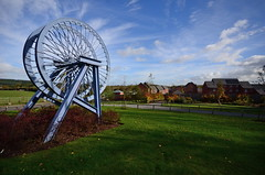 (Sam Tait) Tags: nottingham wheel board gone winding coal destroyed demolished colliery headstock notts annesely