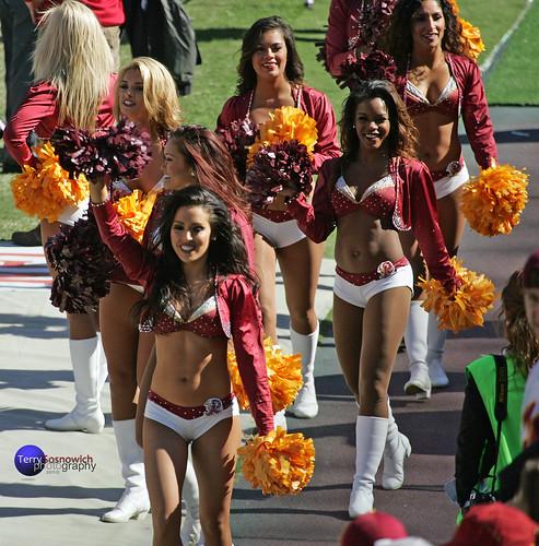 Washington Redskinette Cheerleaders, Taylor, Maya, Kirsten, Annie, London and Priscilla.