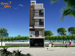 Triplex House Design (ApnaGharhd) Tags: house design floor plan triplex