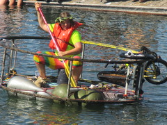 How it's Done (whymcycles) Tags: california sculpture bike wheel lady race cycling tricycle paddle kinetic herman bici trike annual float bicyclette velo fahrrad ventura 17th vitruvian 2014 sisyphus sysiphus whymcycle rhonrad amphious