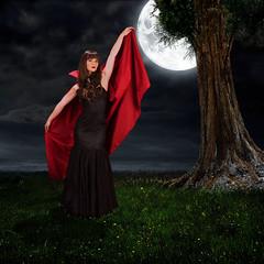 Vampire Time (photobunny) Tags: moon composite studio model vampire jordan cape mayhem strobist ccoc 628400 brendaclarke