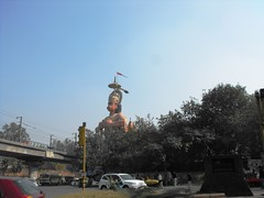 Delhi, January 2012 (leonyaakov) Tags: india holiday streets delhi hanuman monuments citycenter sunnyday trafic citiscape capitalcity citytour hindustan greatphotographers  marculescueugendreamsoflightportal
