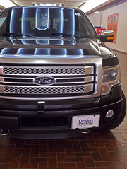2015 F-150 (buickstyle232) Tags: ford reflections neon f150 neonlights neonsigns salinakansas 2014 shoppingcenters 2015 centralmall newtrucks