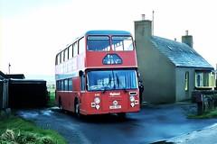 Highland D26 Mey Outstation October 1981 (return2layerroad) Tags: scotland caithness mey ecw highlandomnibuses leylandfleetline uas70t