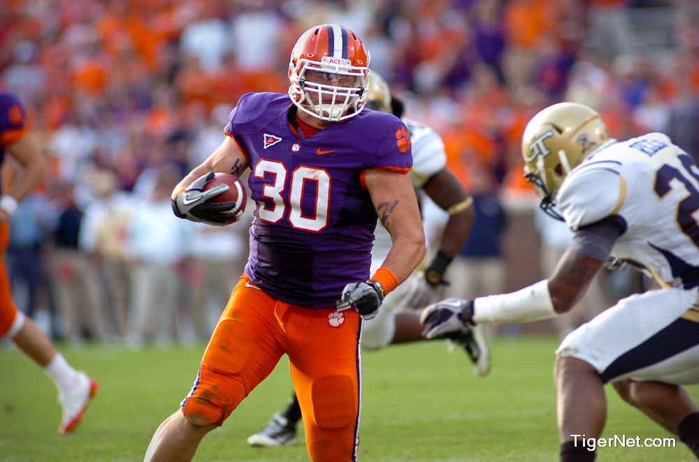 Clemson Photos: 2010, Chad  Diehl, Football, Georgia  Tech