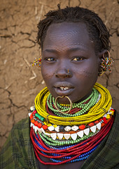Portrait Of A Topossa Woman, With Traditional Clothes, Omo Valley, Kangate, Ethiopia (Eric Lafforgue) Tags: africa portrait people haircut beauty vertical female outdoors photography necklace women day pattern adult symbol african decoration jewelry tribal blackpeople bead omovalley ritual ethiopia tribe ethnic hairstyle scar marking chin beaded beautifulpeople scars anthropology cultural scarification bravery oneperson jewel developingcountry indigenous labret courage ethnicity onepeople adornment primitive hornofafrica ethiopian eastafrica traditionalclothing 2025years blackskin beadednecklace onewomanonly lookingatcamera colorpicture oneyoungwomanonly africanethnicity 1people indigenousculture africanculture ethnicgroup onlywomen bodyadornment colourpicture kangate oneadultonly ethio1401824