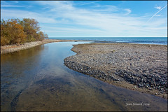 Where Gages Creek Pours Into Lake Ontario @ Port Hope (Jeannot7) Tags: ontario creek lakeontario porthope gagescreek