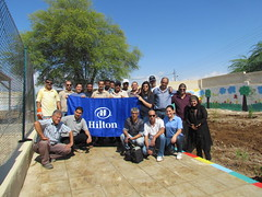 Dead Sea, Jordan (HiltonWorldwide) Tags: community service hiltonworldwide corporatevolunteerism hiltonhotelsandresorts travelwithpurpose globalweekofservice