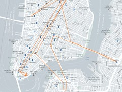 October 2014 Location History (Lower Manhattan) (quiggyt4) Tags: nyc newyorkcity travel autumn newyork fall boston walking subway drive newjersey google october walks vermont driving googlemaps phone walk maps gis nj newengland roadtrip location foliage smartphone amtrak cartography albany data trips drives geography unioncity rutland gps stowe concord killington visualization ashland android privacy tracking secaucus framingham weehawken schenectady nsa ronpaul arcgis ows occupy bigdata locationtracking occupywallstreet locationhistory googlelocationhistory