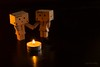 Danbo discovers love. (Jackie XLY) Tags: cute canon candles candle kaiyodo danbo 600d revoltech danboard revoltechdanboard canon600d minidanboard revoltechdanboardmini minidanbo revoltechdanboardminikaiyodo