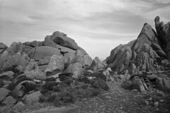 Granite rocks n° 11 (Franco & Lia) Tags: sardegna blackandwhite film analog rocks sardinia noiretblanc granite apx100 epson agfa rocce biancoenero argentique pellicola granito analogico v500 tempiopausania adox limbara nikonl35af2 aph09 puntaberritta