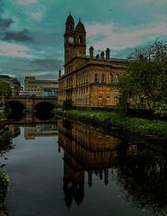 Paisley Town Hall (MC Snapper78) Tags: bridge reflection reflections reflecting scotland sony architect paisley whitecart renfrewshire paisleytownhall marilynconnor