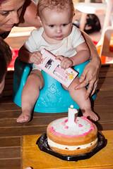 What am I supposed to do wif DAT!!??!! (obLiterated) Tags: charli charlisfirstbirthday people birthdays brisbane cat birthdaycake cake