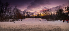 sled hill sundown (Christian Collins) Tags: sled snow forest sunset bowl toboggan winter december michigan canoneos5dmarkiv sledding sledge fun snowsuit saucer lampost