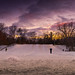 sled hill sundown