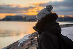 Time in Helsinki (LArregi) Tags: helsinki finland finlandia sea mar ice hielo congelado frozen calle street tranvia tram sunset atardecer cielo sky nubes clouds luce lights