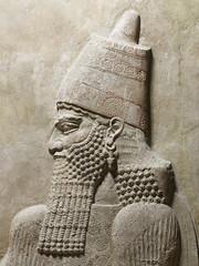 Relief détail tête Sargon, AO19873-AO19874_TO110093. (Phicantien de Chaldée) Tags: khorsabad archéologie irak sargon assyrie mesopotamie muséedulouvre
