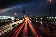 Riyadh During The Rain (Bakar_88) Tags: arriyadh weather rain rainshower riyadh clouds asia ksa saudiarabia longexposure nikon d90 nikond90 nikkor1024 perspective middleeast dusk bluehour skyline highrise highway