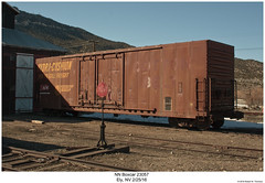 NN Boxcar 23057 (Robert W. Thomson) Tags: nn nevadanorthern boxcar traincar rollingstock hydracushion cottonbelt ssw stlouissouthwestern trains train railroad railway ely nevada