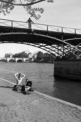Paris, Pont des Arts (danmitch) Tags: paris pont des arts pontdesarts leica x113 mono