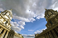 Sunshine & Shade.  Old Royal Naval College, Greenwich, London (MJ Reilly) Tags: ornc oldroyalnavalcollege royalnavalcollege navy england uk london southlondon southeastlondon nikon d7200 nikond7200 mjreilly martinreilly wren dome architecture calssic londonskyline riverthames sky skyline cloud unesco worldheritagesite