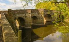 And The Other Side Of The Bridge Looks Like This (williamrandle) Tags: 2017 pershore worcestershire england uk spring river riveravon water reflections bridge pershorebridge stone strucutre arch history trees sky clouds sunshine sunlight shadows outdoor nikon d7100 sigma1835f18art