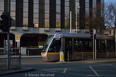 4001 on Lower Abbey Street, 23/3/17 (hurricanemk1c) Tags: railways railway train trains luas light rail lightrail alstom citadis 2017 dublin redline lowerabbeystreet 4001