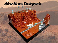 Martian Outpost (KW_Vauban) Tags: lego moc mars martian outpost microspacetopia microscale red planet space