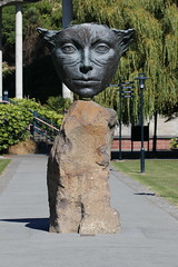 Face of Peace (ambodavenz) Tags: face peace sculpture margriet windhausen caroline bay timaru bronze south canterbury new zealand