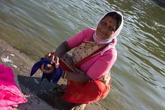 Nasik - woman at the washing ghats. (JohnMawer) Tags: nasik nashik maharashtra india in
