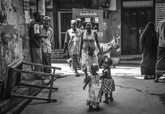Turistic guides... (pelpis) Tags: children childhood blackandwhite bw scene streetscene street lamu lamutamu africa africanchildren people peoplescene flickrpeople kenya