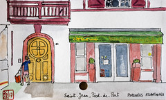 Le Tour de France virtuel - 64 - Pyrénées Atlantiques (chando*) Tags: aquarelle watercolor sketch croquis france