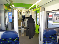 Niqab Girl in Train (Warm Clothes Fetish) Tags: niqab girl train rail zug hijab burka chador