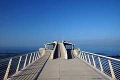 Pontile Bellavista (Darea62) Tags: bridge seascape sky jetty pier versilia lidodicamaiore pontile bellavista vittoria travel skyline water railing architecture