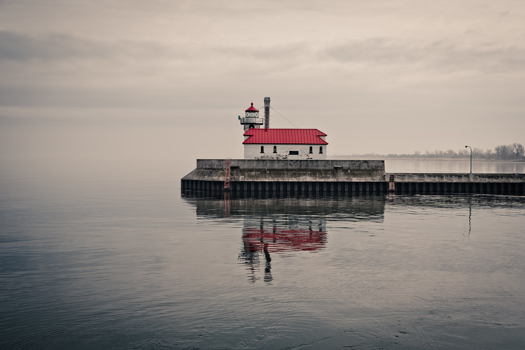 Duluth South Breakwater Outer Light in F by Sharon Mollerus, on Flickr