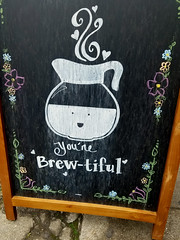 Coffee goggles (quinn.anya) Tags: coffee beautiful brew anthropomorphic chalkboard berkeley